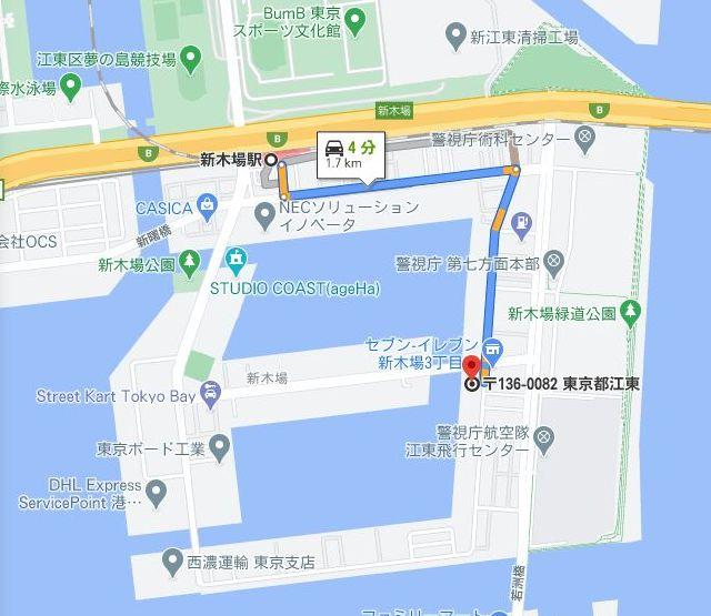 榎戸材木店へのルート