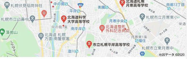 北海道札幌市豊平区の地図画像